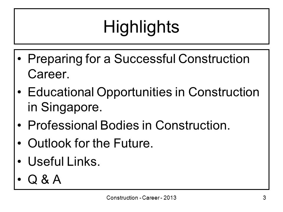 Construction - Career - 201324 How to choose a College/University.