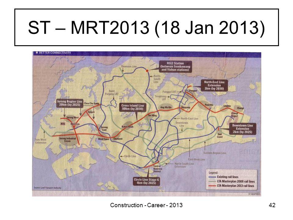 Construction - Career - 201342 ST – MRT2013 (18 Jan 2013)