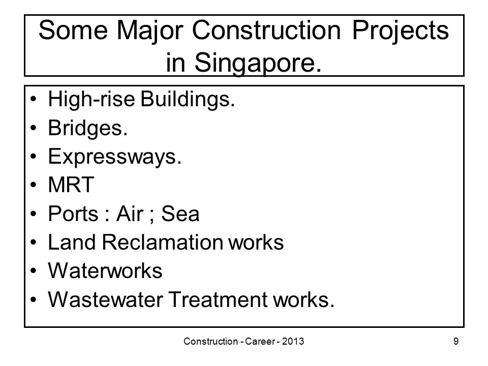 Construction - Career - 201330 Educational Opportunities in Construction in Singapore Construction Awards by PEIs –TGC : Professional Diploma in Construction Engineering* –NIM : Diploma in Construction Engineering* –*Recognized by SIET as satisfying its academic requirement for the membership grade of 'Member (MSIET)'.