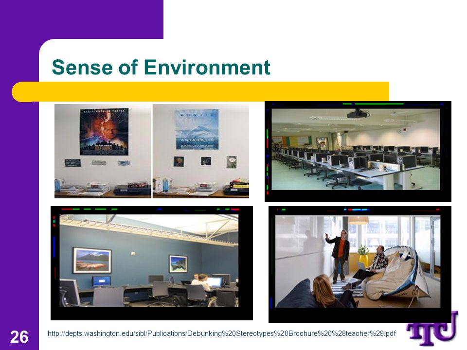 Sense of Environment 26 http://depts.washington.edu/sibl/Publications/Debunking%20Stereotypes%20Brochure%20%28teacher%29.pdf