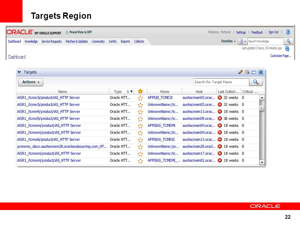 22 Targets Region