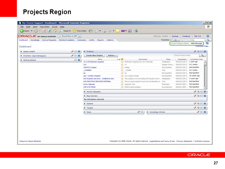 27 Projects Region