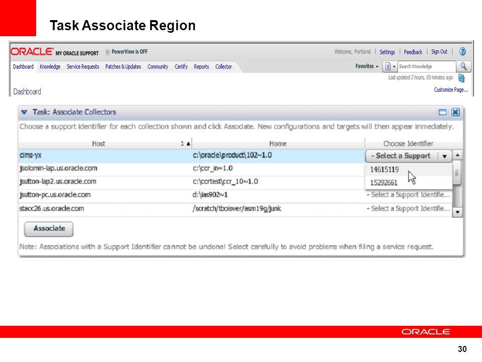 30 Task Associate Region