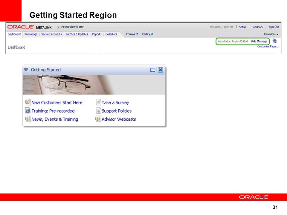 31 Getting Started Region