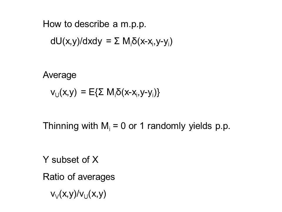 How to describe a m.p.p.