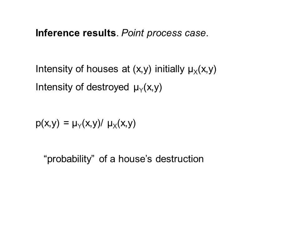 Inference results. Point process case.