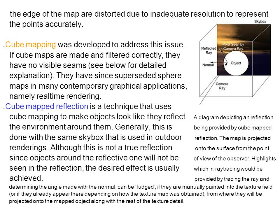 the edge of the map are distorted due to inadequate resolution to represent the points accurately.