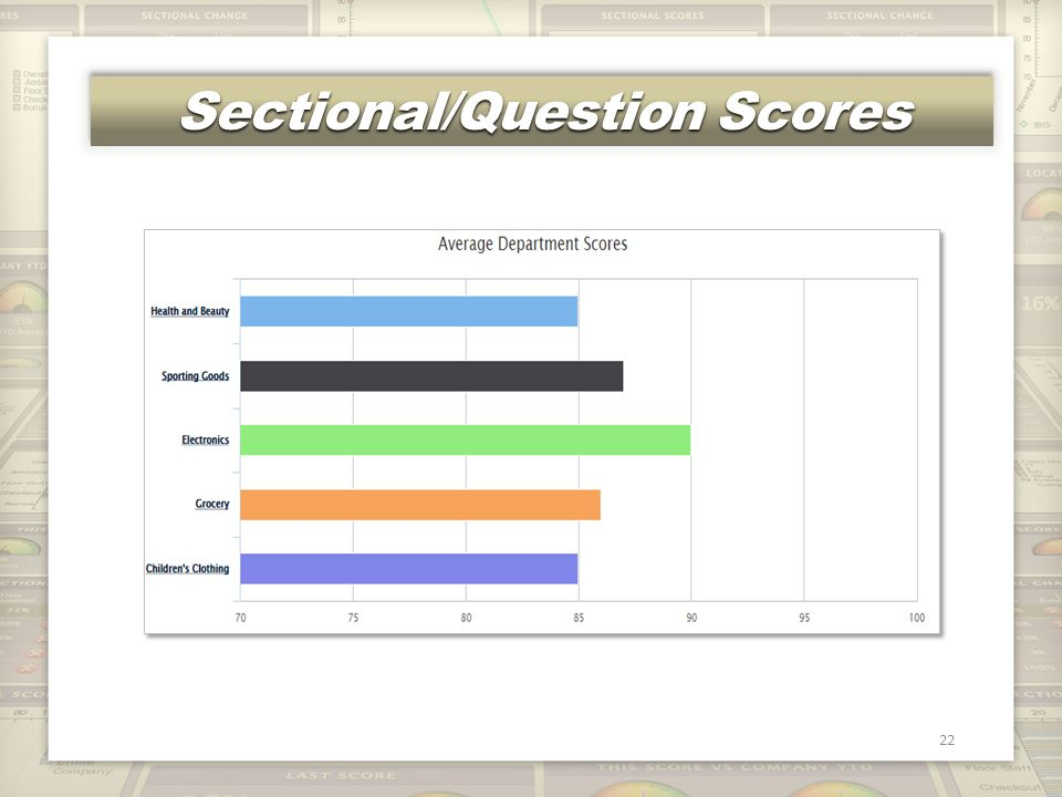 Sectional/Question Scores 22