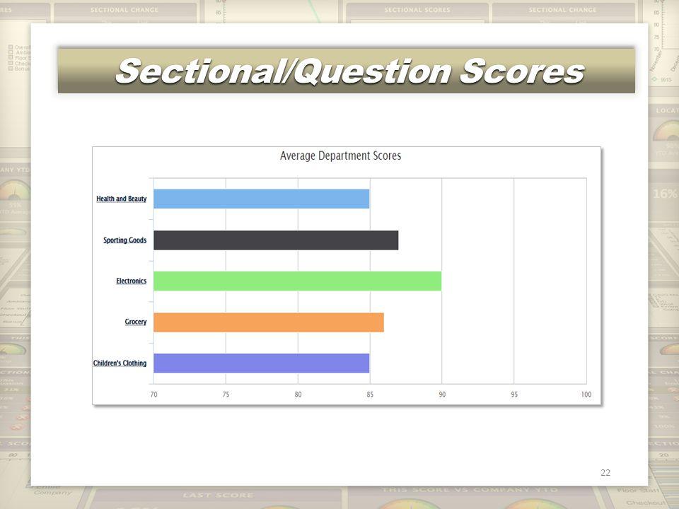 Sectional/Question Scores 22