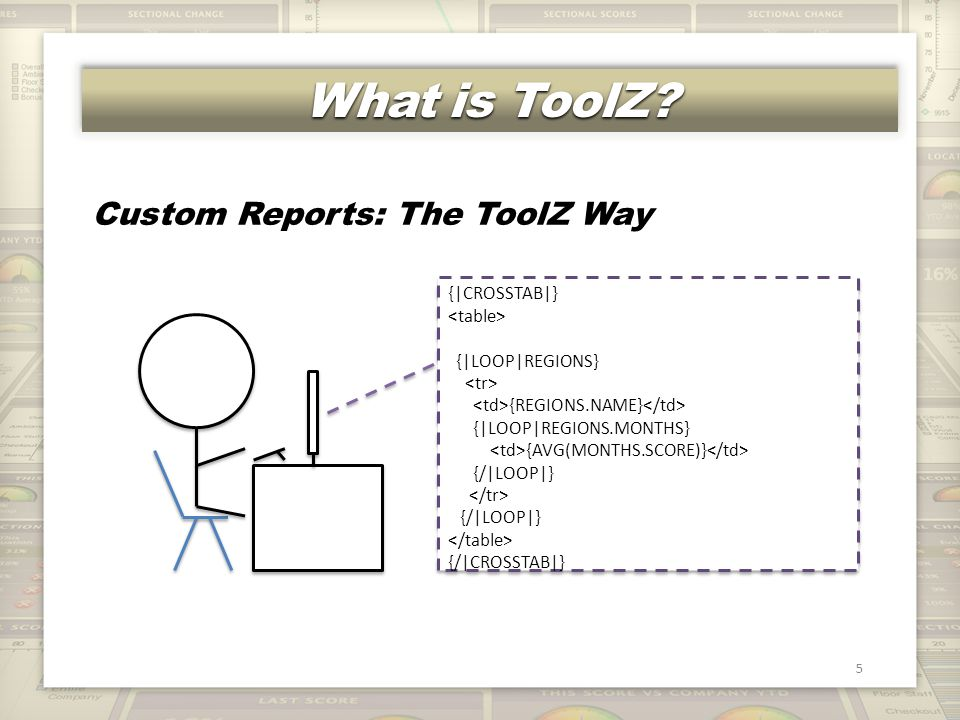 Data for Other Reports 26 Data for presentations, offline reports Note improved scores over time