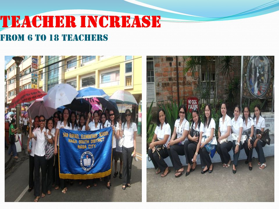 TEACHER INCREASE FROM 6 TO 18 TEACHERS