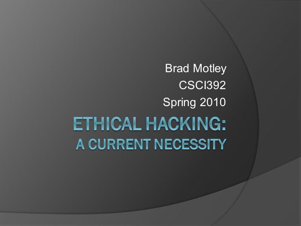Brad Motley CSCI392 Spring 2010