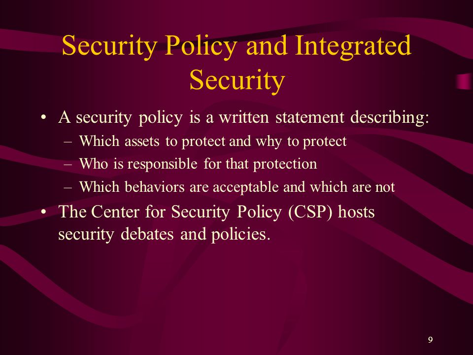30 Integrity Threats An integrity threat exists when an unauthorized party can alter a message stream of information.