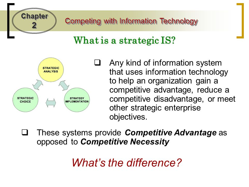 Chapter 2 Competing with Information Technology IT and Agile Companies