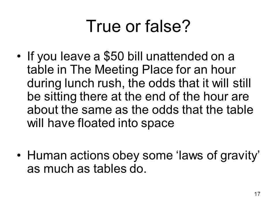 17 True or false.