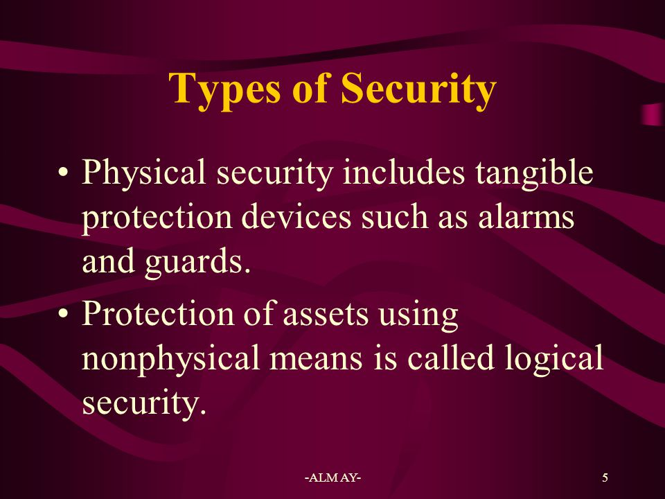 6 Implication of Threat Any act or object that poses a danger to computer assets is known as a threat.