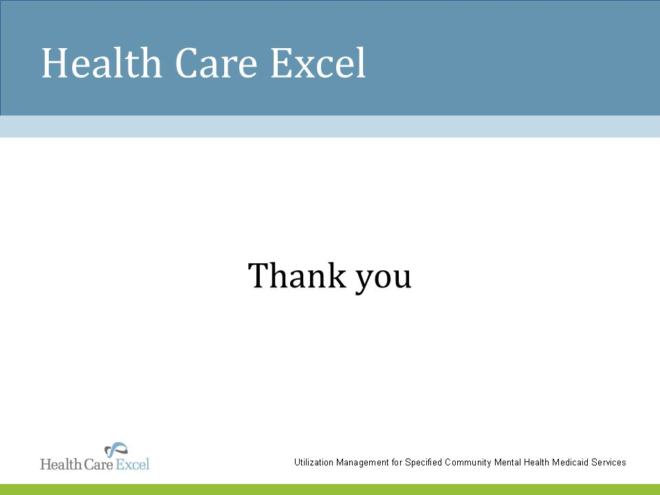 Health Care Excel Thank you