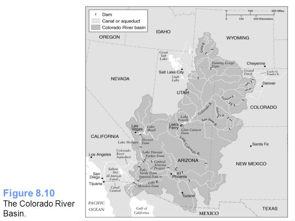 Figure 8.10 The Colorado River Basin.
