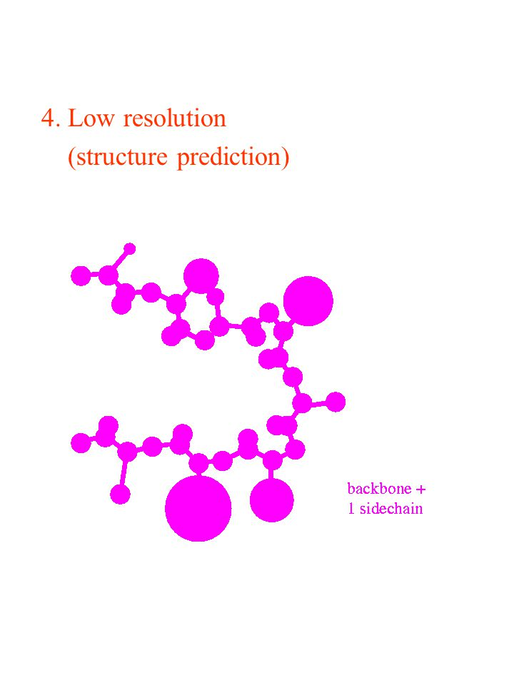 4. Low resolution (structure prediction)