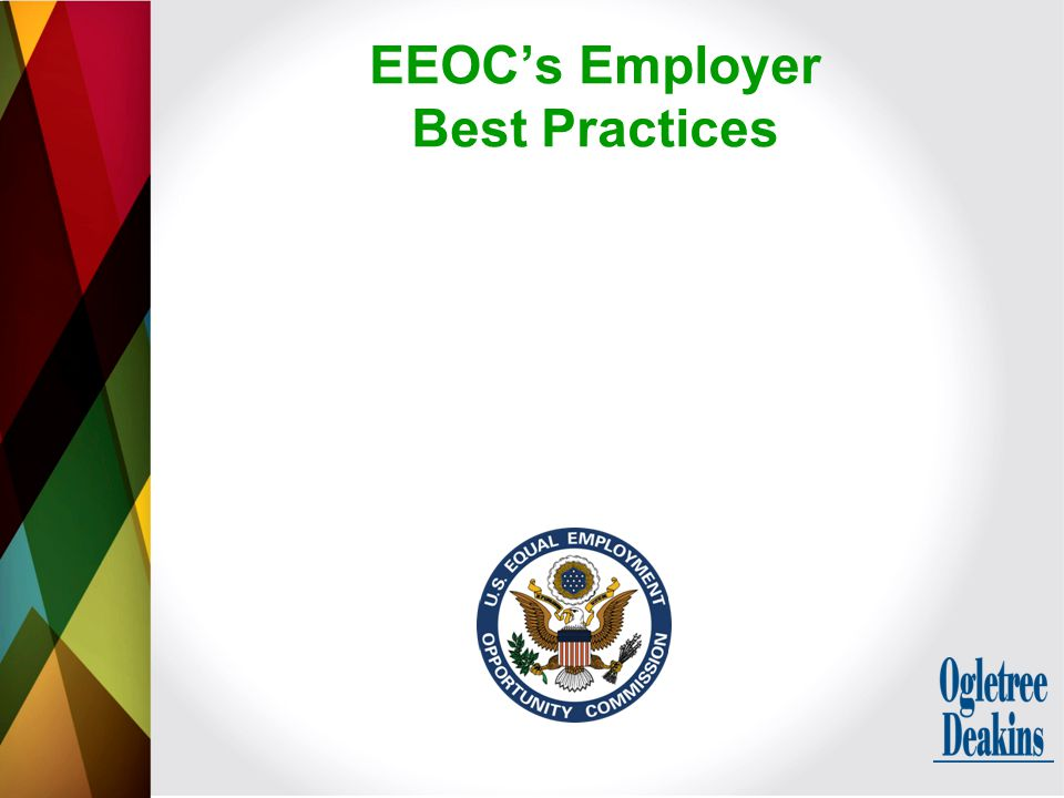EEOC's Employer Best Practices