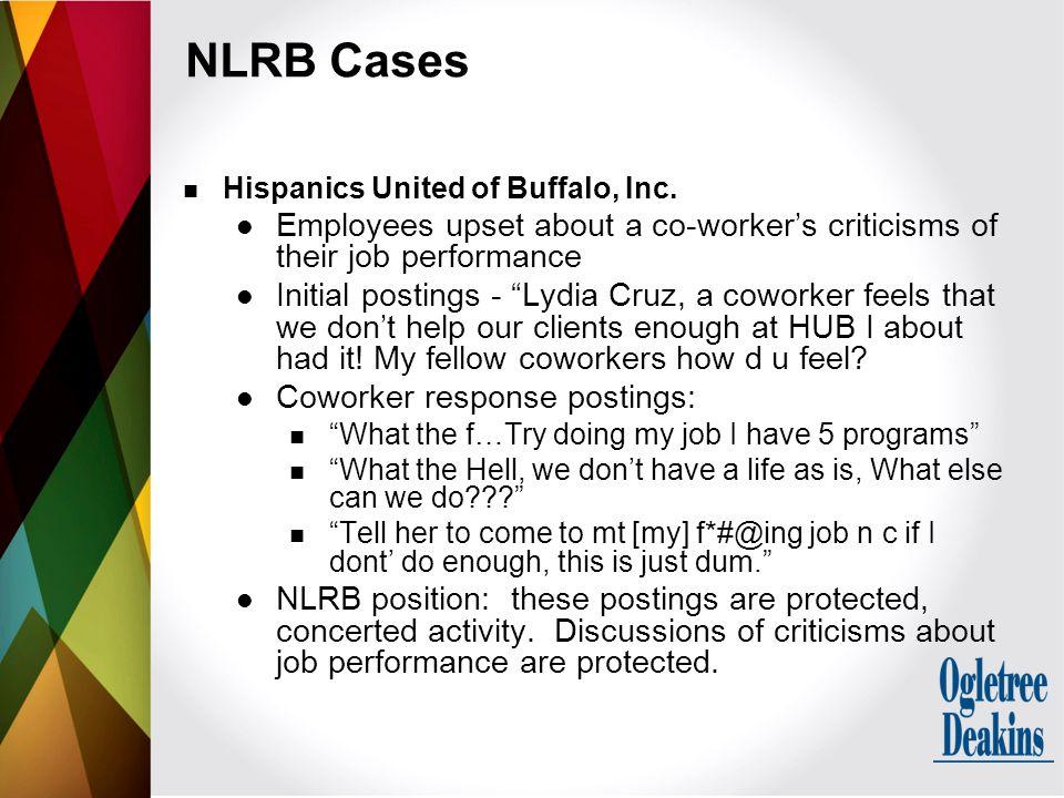 NLRB Cases Hispanics United of Buffalo, Inc.