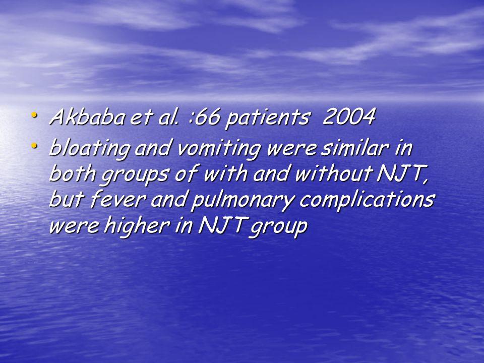 Akbaba et al. :66 patients 2004 Akbaba et al.