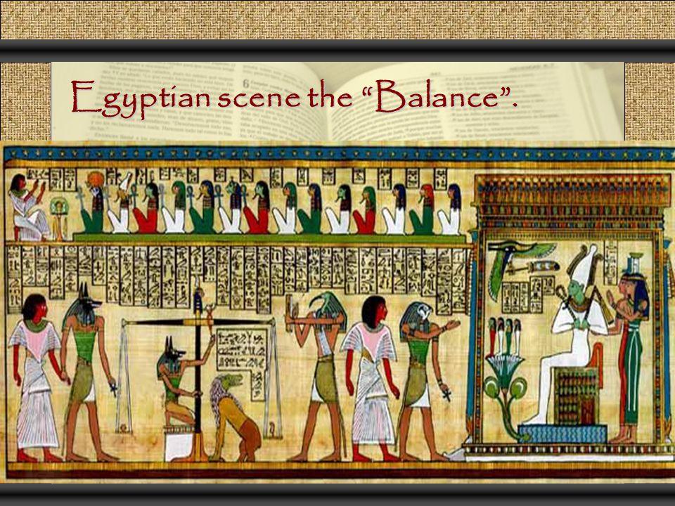 "Egyptian scene the ""Balance""."