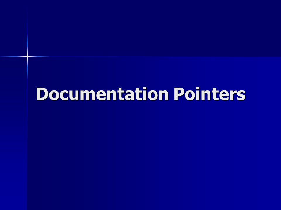 Documentation Pointers