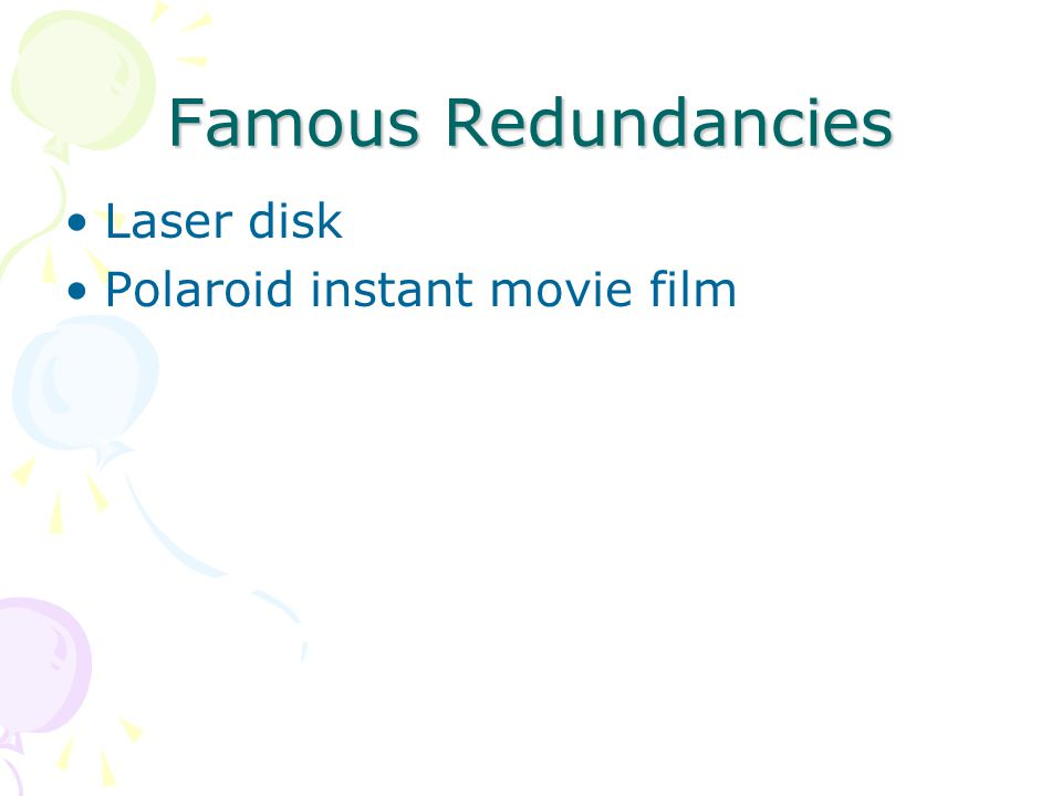 Famous Redundancies Laser disk Polaroid instant movie film
