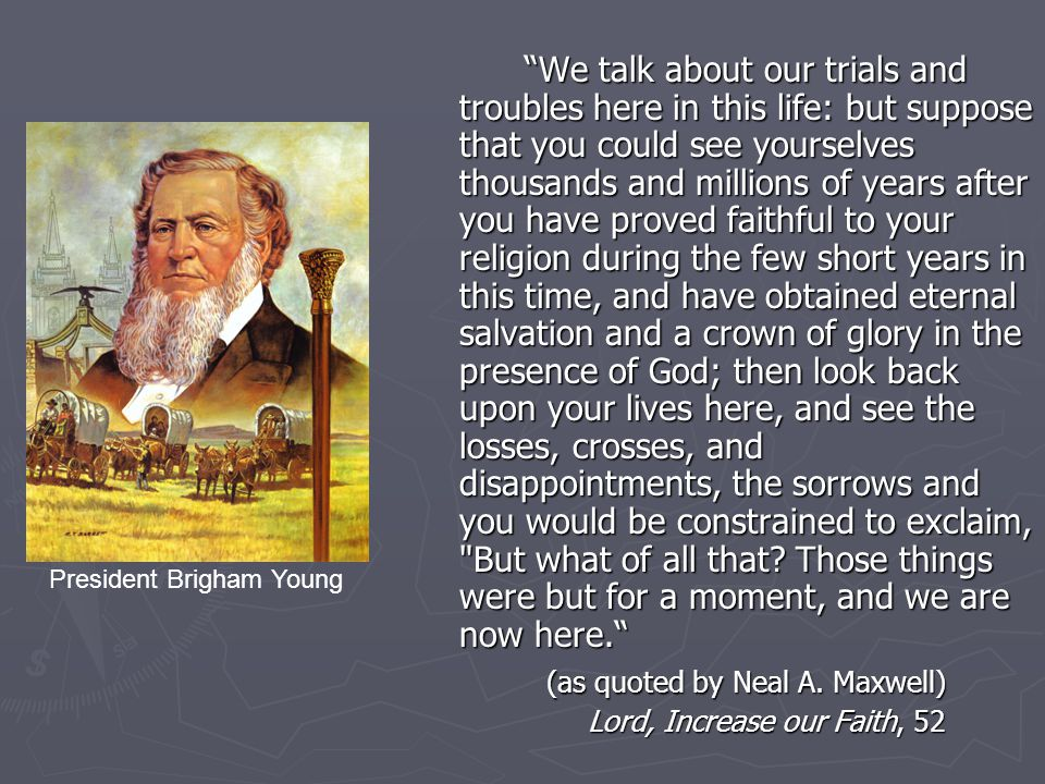 As far as we degenerate from God, we descend to the devil and lose knowledge, and without knowledge we cannot be saved, and while our hearts are filled with evil, we are studying evil, there is no room in our hearts for good, or studying good. TPJS, 217 Prophet Joseph Smith