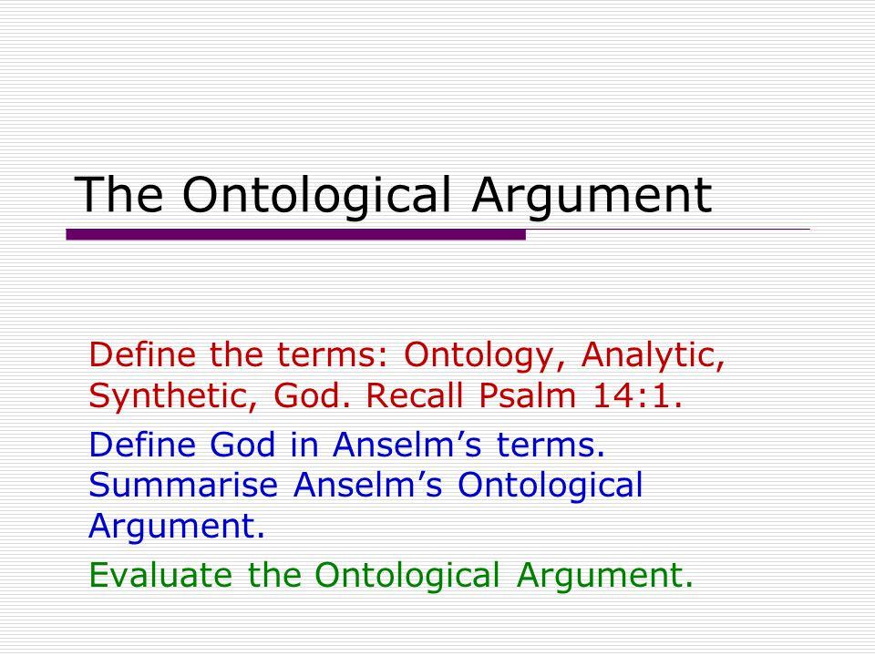 The Argument P1.God is TTWNGCBC P2.