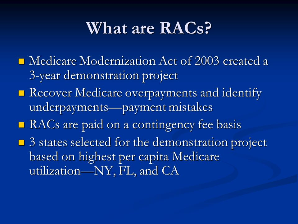 What are RACs.