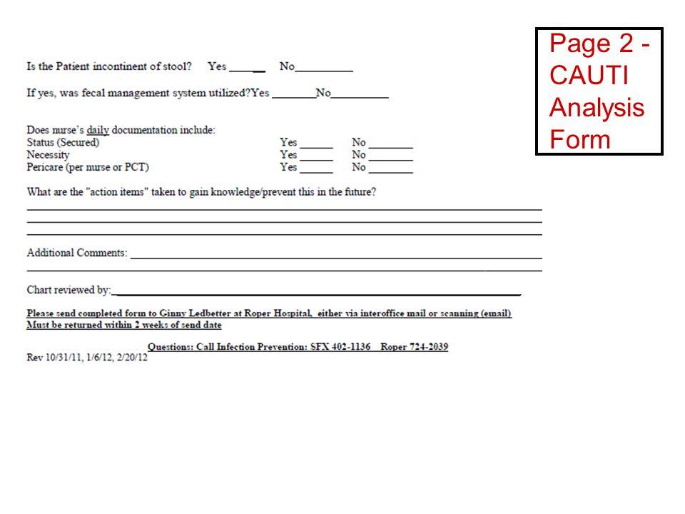 Page 2 - CAUTI Analysis Form
