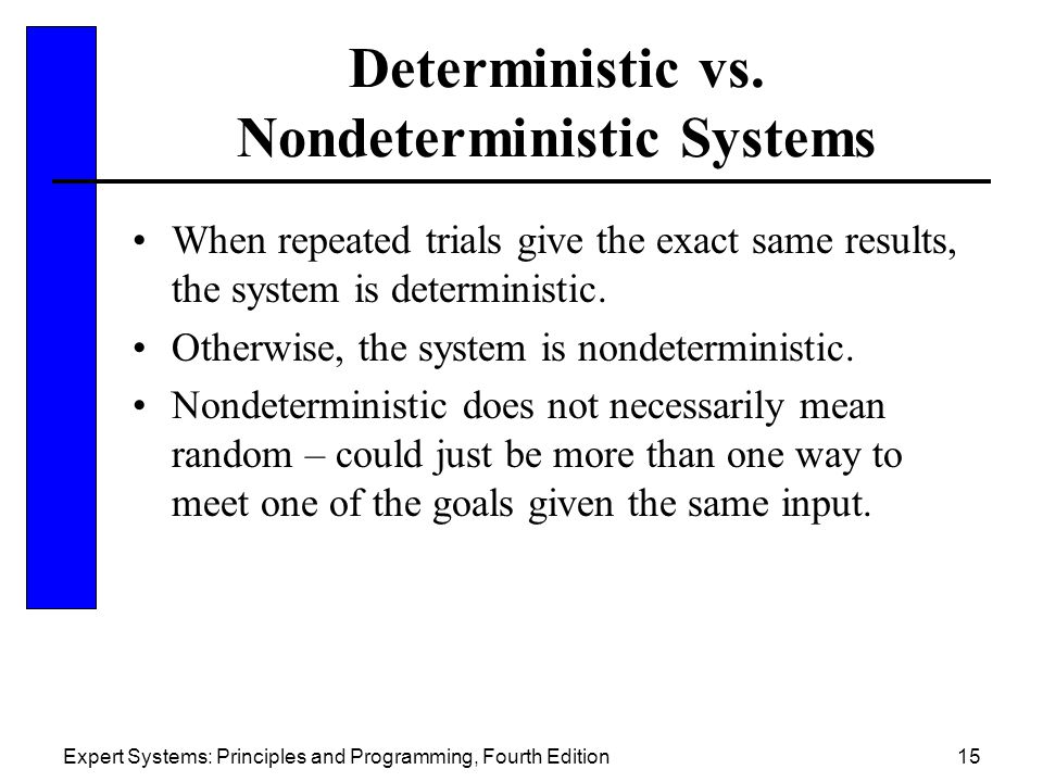 Expert Systems: Principles and Programming, Fourth Edition15 Deterministic vs.