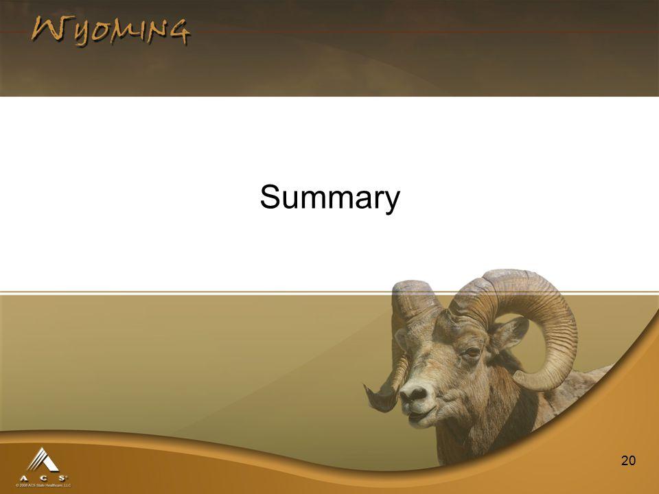 20 Summary