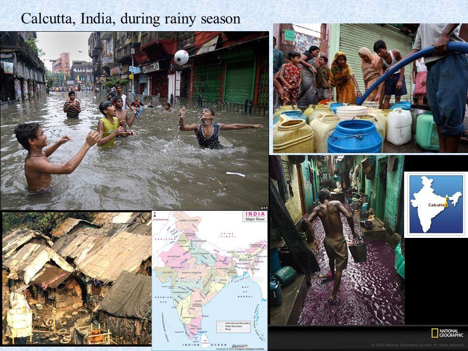 Calcutta, India, during rainy season