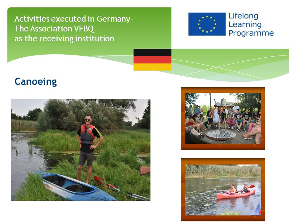 Canoeing Activities executed in Germany- The Association VFBQ as the receiving institution