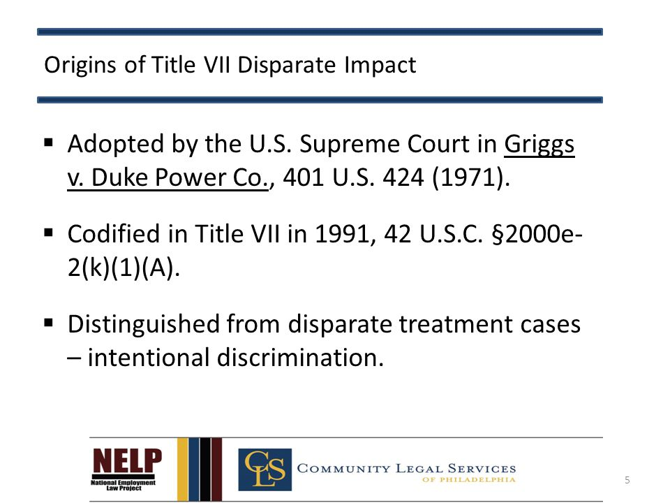 Title VII: Matrices ( Targeted Exclusions )  Should take into account fact-based evidence, legal requirements, studies (p.