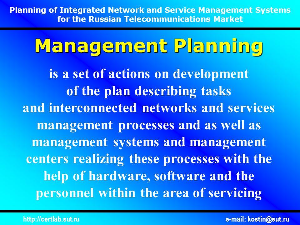 http://certlab.sut.rue-mail: kostin@sut.ru Evolution of Approaches to Management Planning .