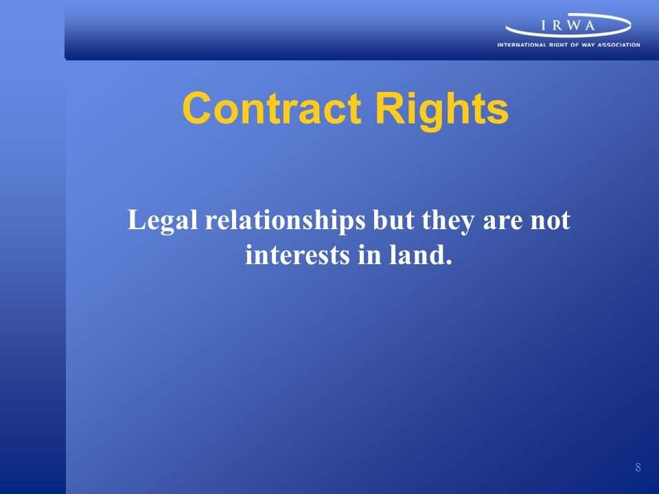 9 Restraints Property/Contract Statutory Common Law