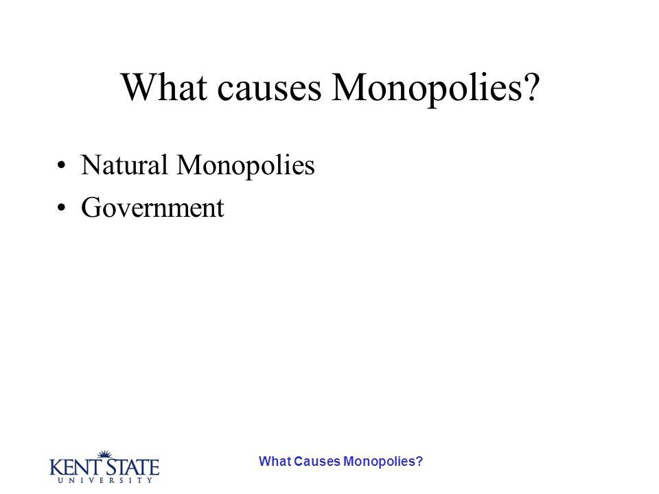 What Causes Monopolies What causes Monopolies Natural Monopolies Government