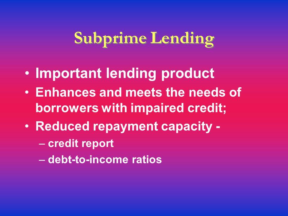Hot Topics Predatory practices Subprime lending Credit Scoring