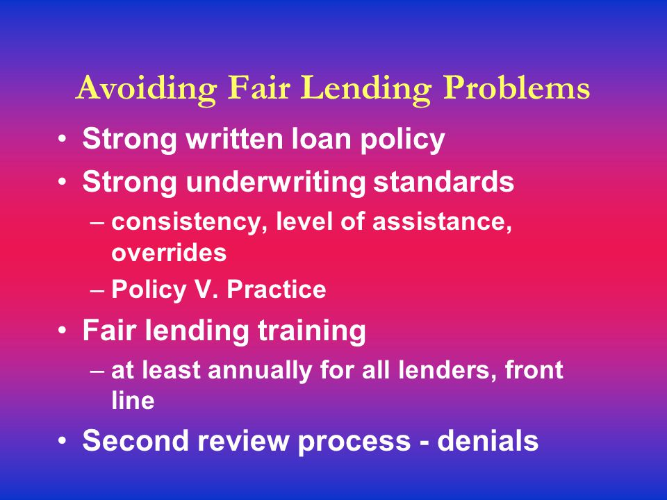 Subprime gone bad Vulnerable borrowers - lean resources Measurements of subprime category applied after loan decision; Steering to subprime products; High rates - High pre-payment penalties Use of non-standard ARM indexes