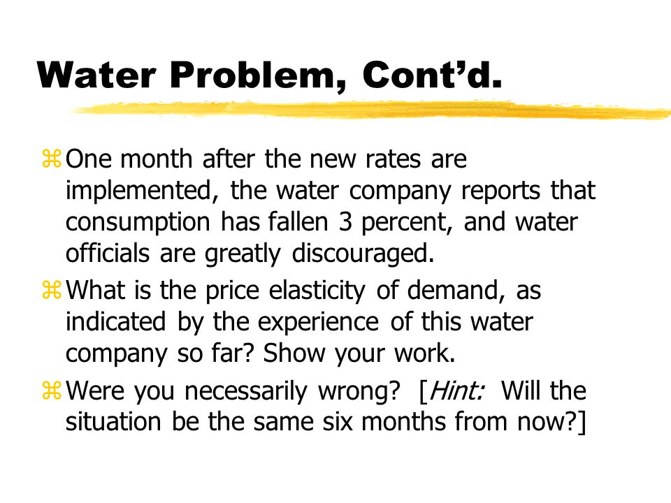 """Water authority wants usage to fall during drought zThere is a meeting to consider raising the price. One person says, """"You can increase the price of"""