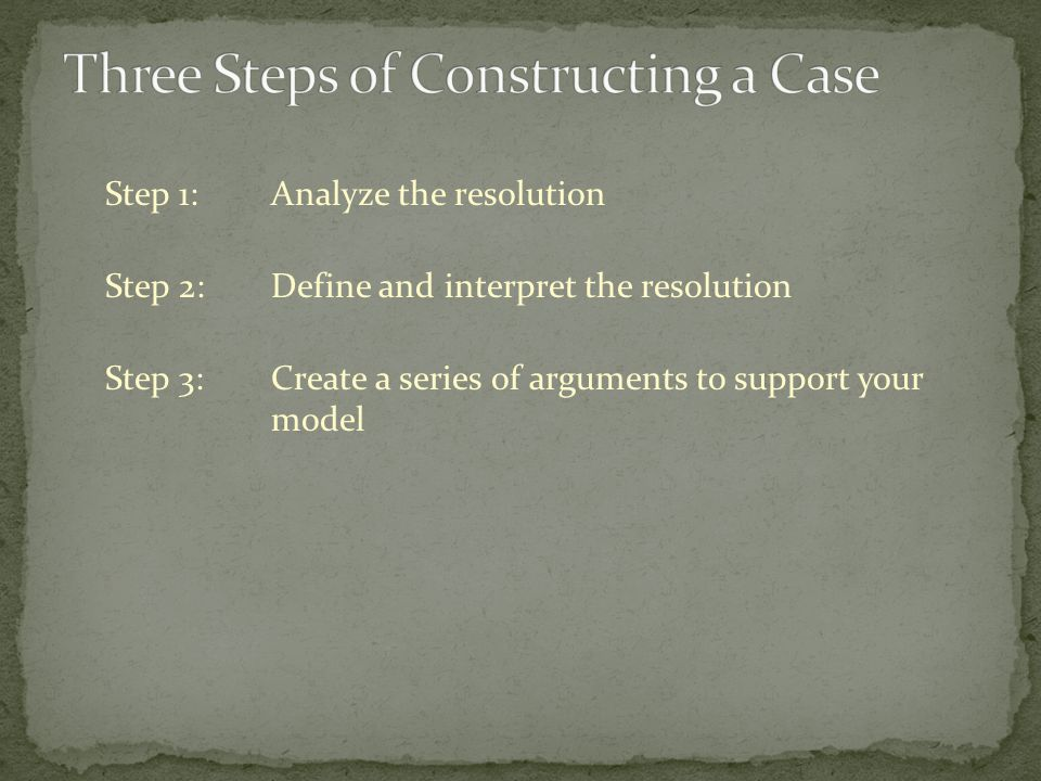 A Principles Case Designate the principle Identify and name the principle Make an argument to support the principle Describe the proposed action Who is the proposed actor.