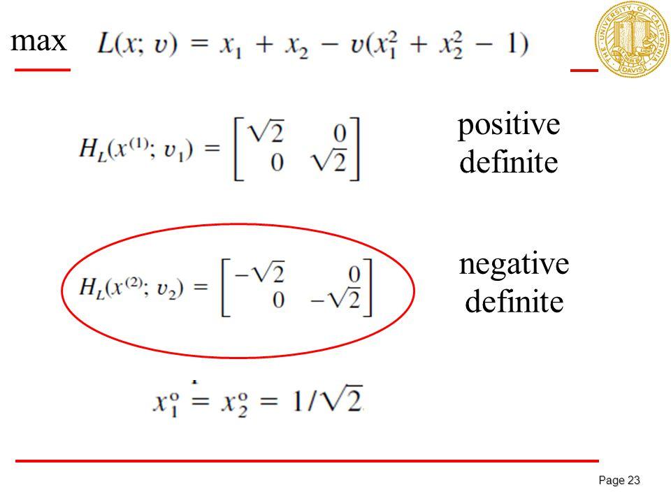 Page 23 Page 23 positive definite negative definite max