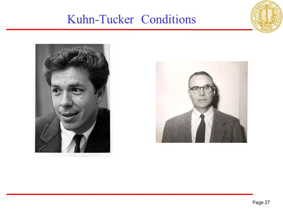 Page 27 Page 27 Kuhn-Tucker Conditions