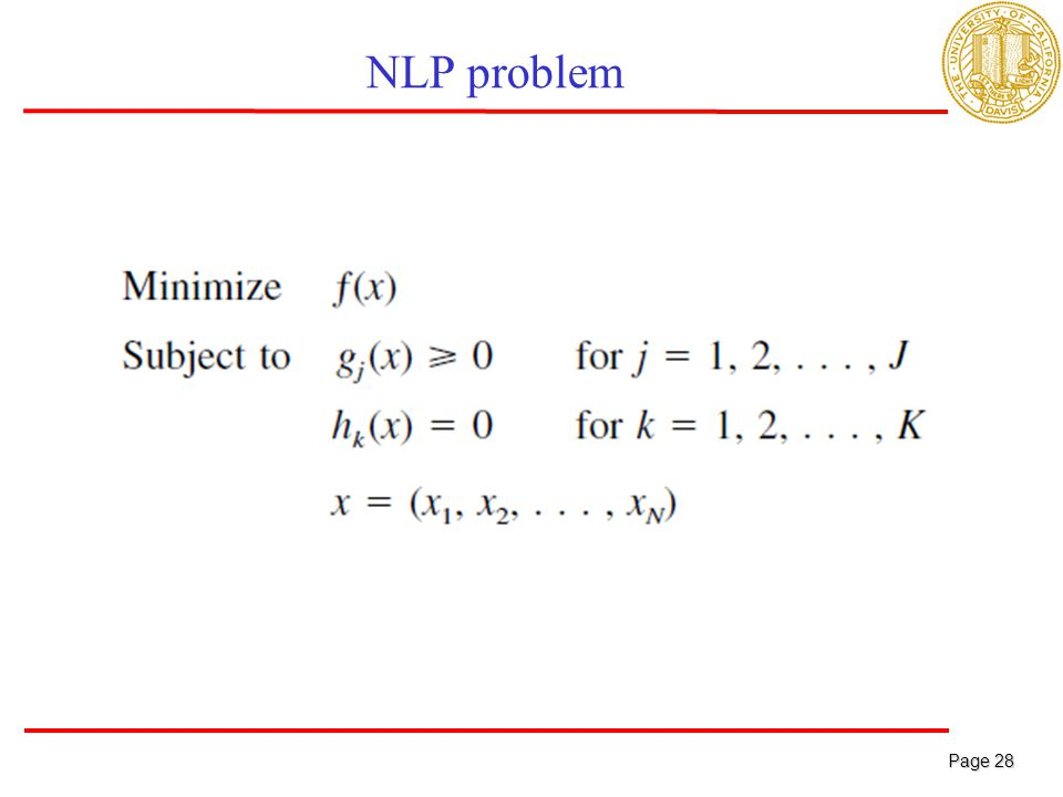 Page 28 Page 28 NLP problem