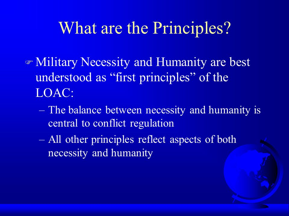 What are the Principles.