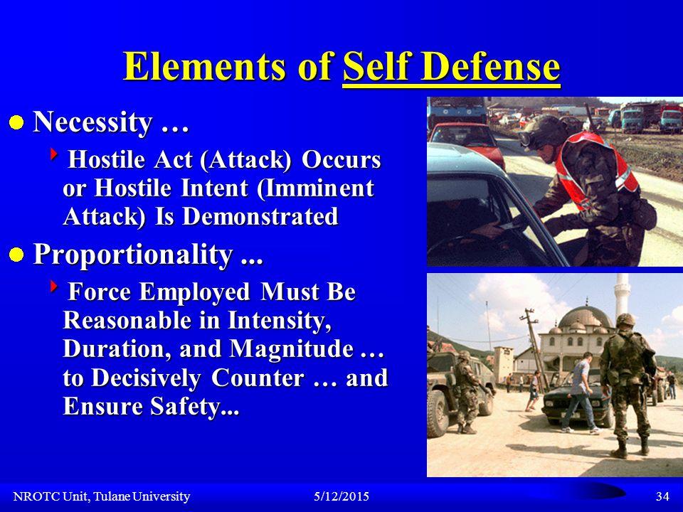 NROTC Unit, Tulane University5/12/201533 Standing ROE Concern...